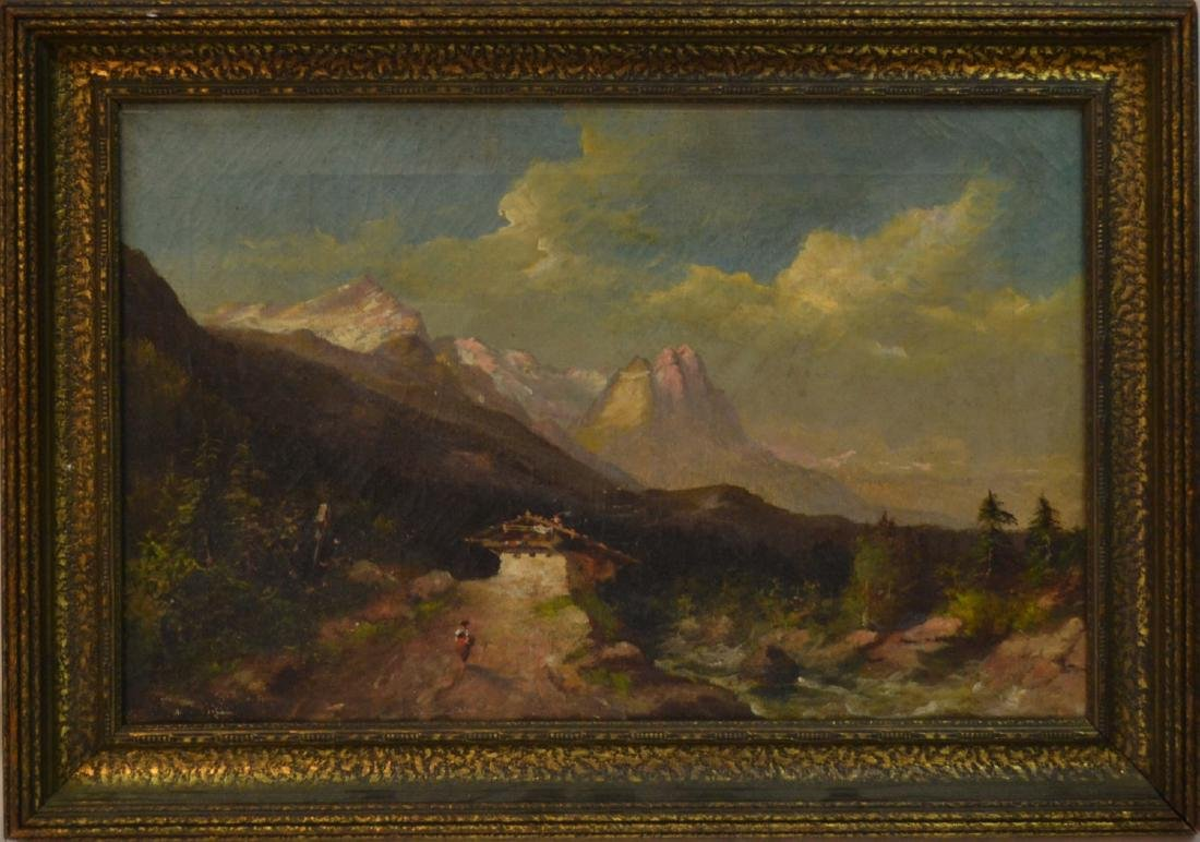 Antique europe landscape of unknown artist
