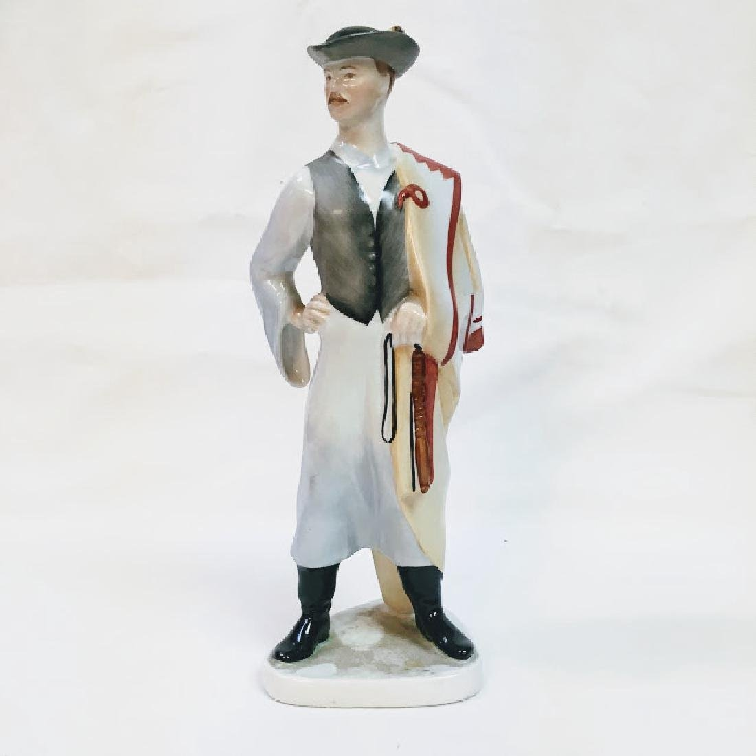 Kezifestes Budapest man in traditional costume figurine