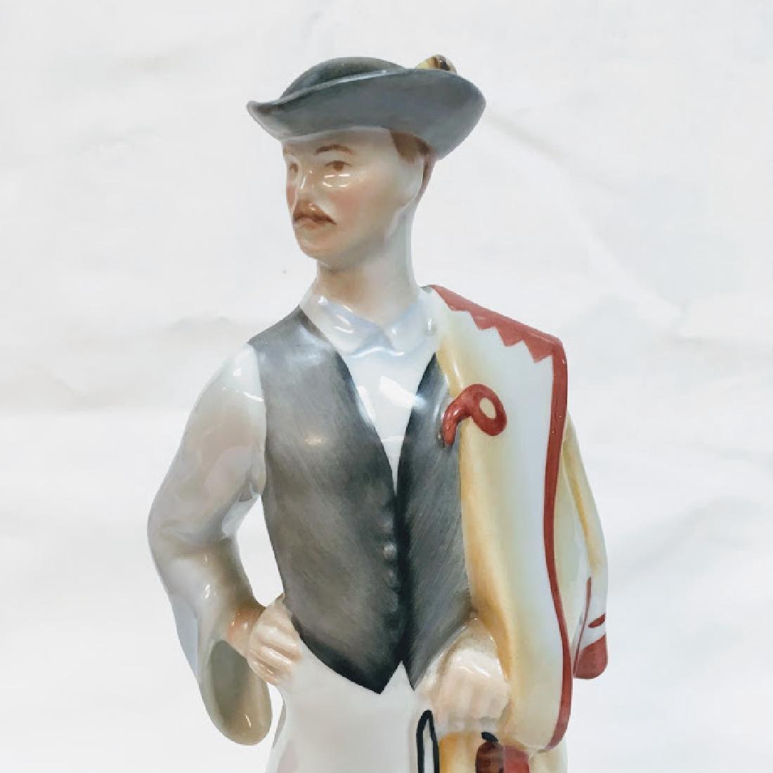 Kezifestes Budapest man in traditional costume figurine - 5