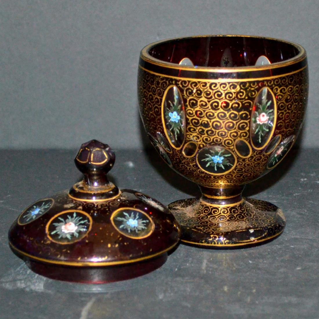 Vintage Moser Chech Covered Bowl - 3