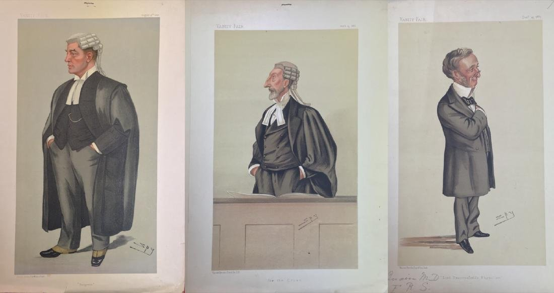 Vanity Fair lot of three Original Lithgraphs
