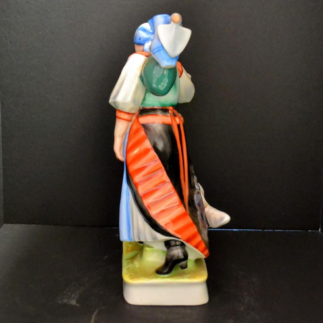 Zsolnay Porcelain - Hungary - Peasant Girl With Her Dog - 4