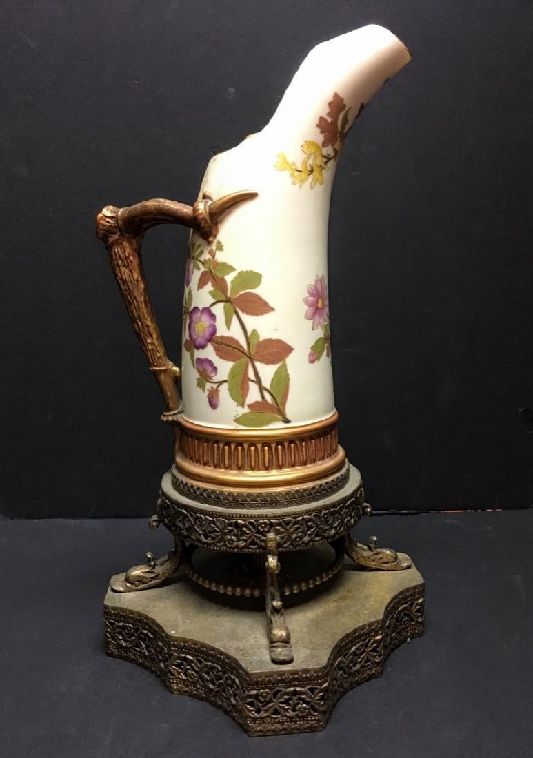 Antique Royal Worcester Porcelain Ewer, 1884