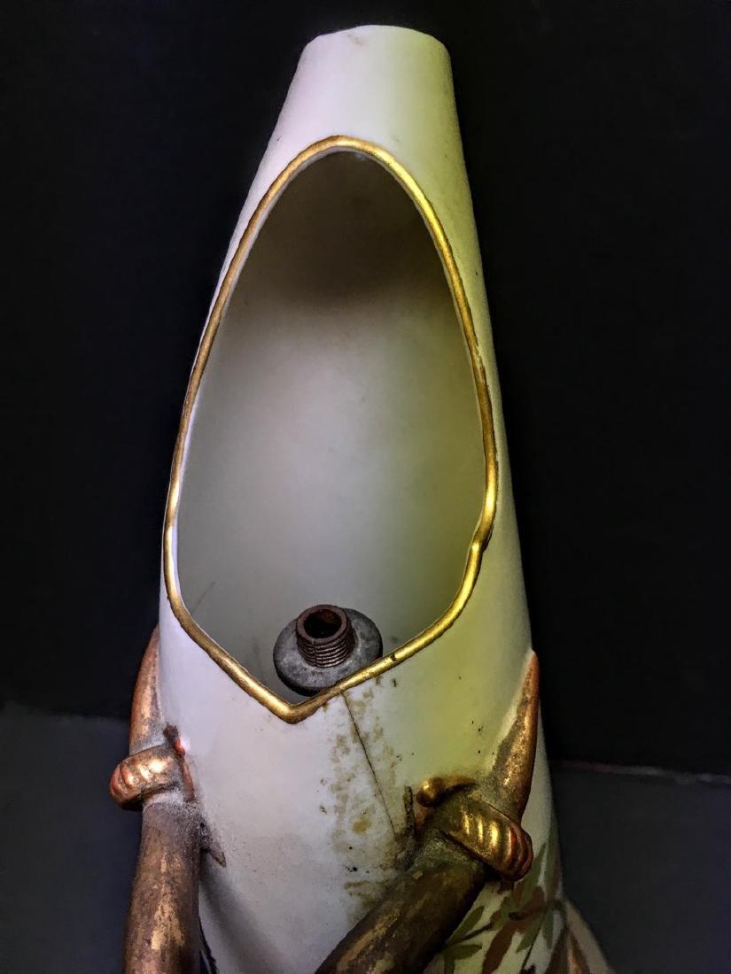 Antique Royal Worcester Porcelain Ewer, 1884 - 5