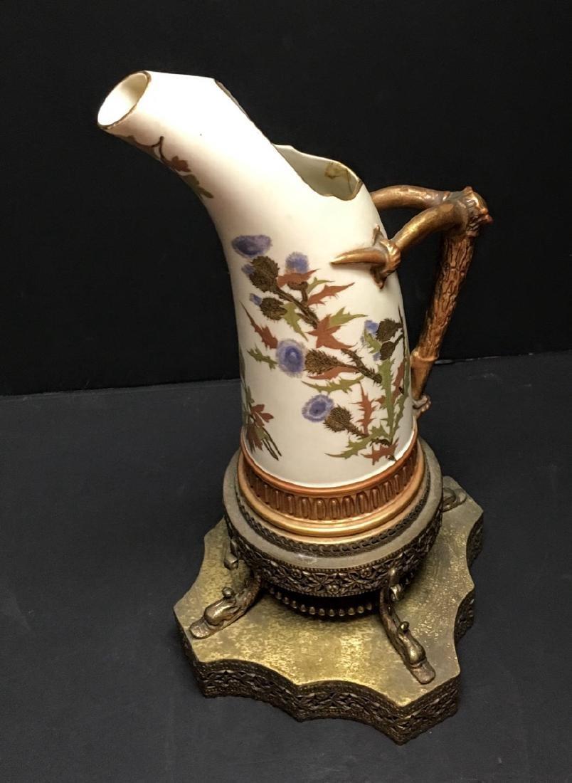Antique Royal Worcester Porcelain Ewer, 1884 - 6