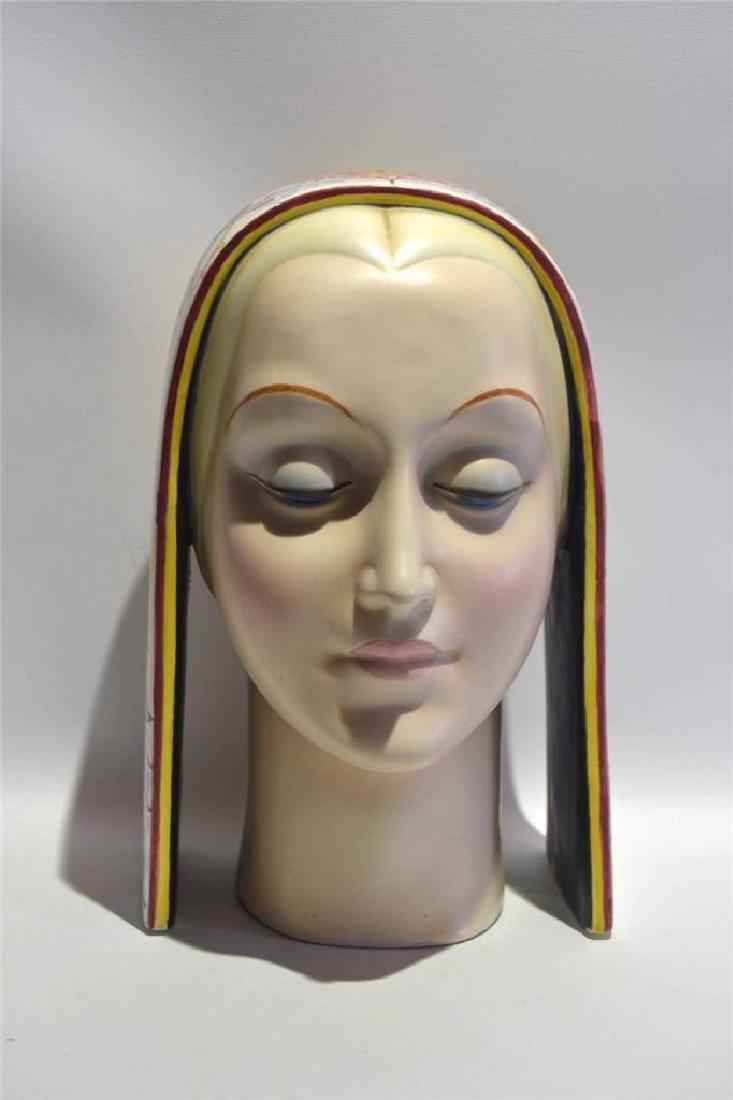 Art Deco Italian Porcelain Bust Circa 1920's, Artist