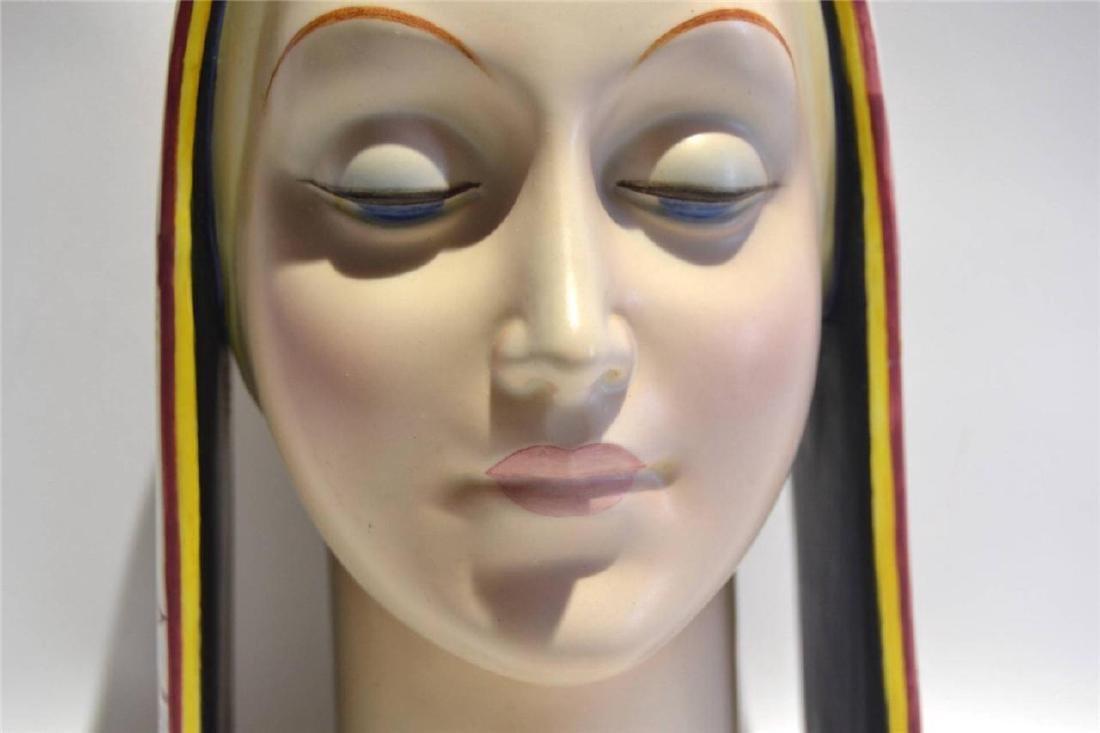 Art Deco Italian Porcelain Bust Circa 1920's, Artist - 2