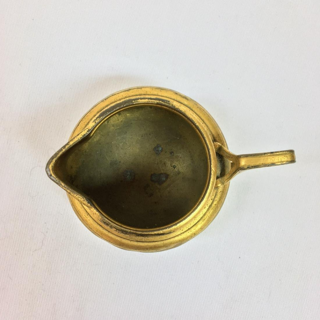 Antique Christofle small bronze engraved creamer - 2