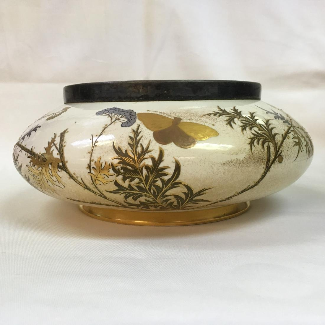 Antique Royal Worcester gold/sterling silver inlay - 2