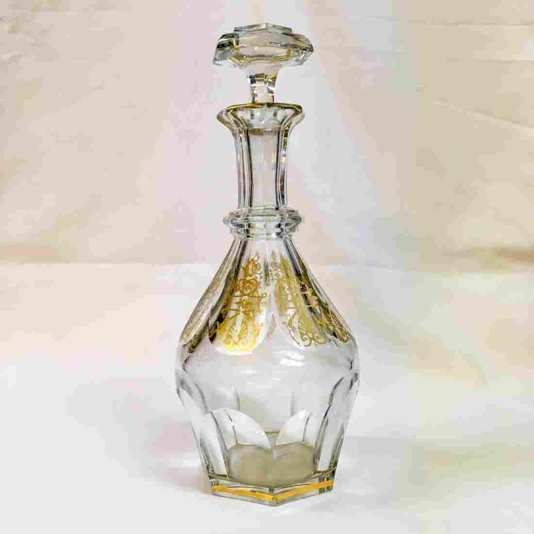 HARCOURT EMPIRE BACCARAT DECANTER SIGNED