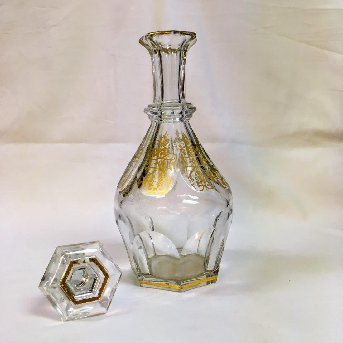 HARCOURT EMPIRE BACCARAT DECANTER SIGNED - 2
