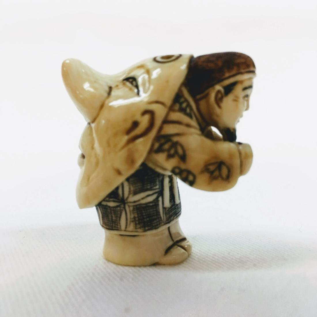 19th century Netsuke double face - 4