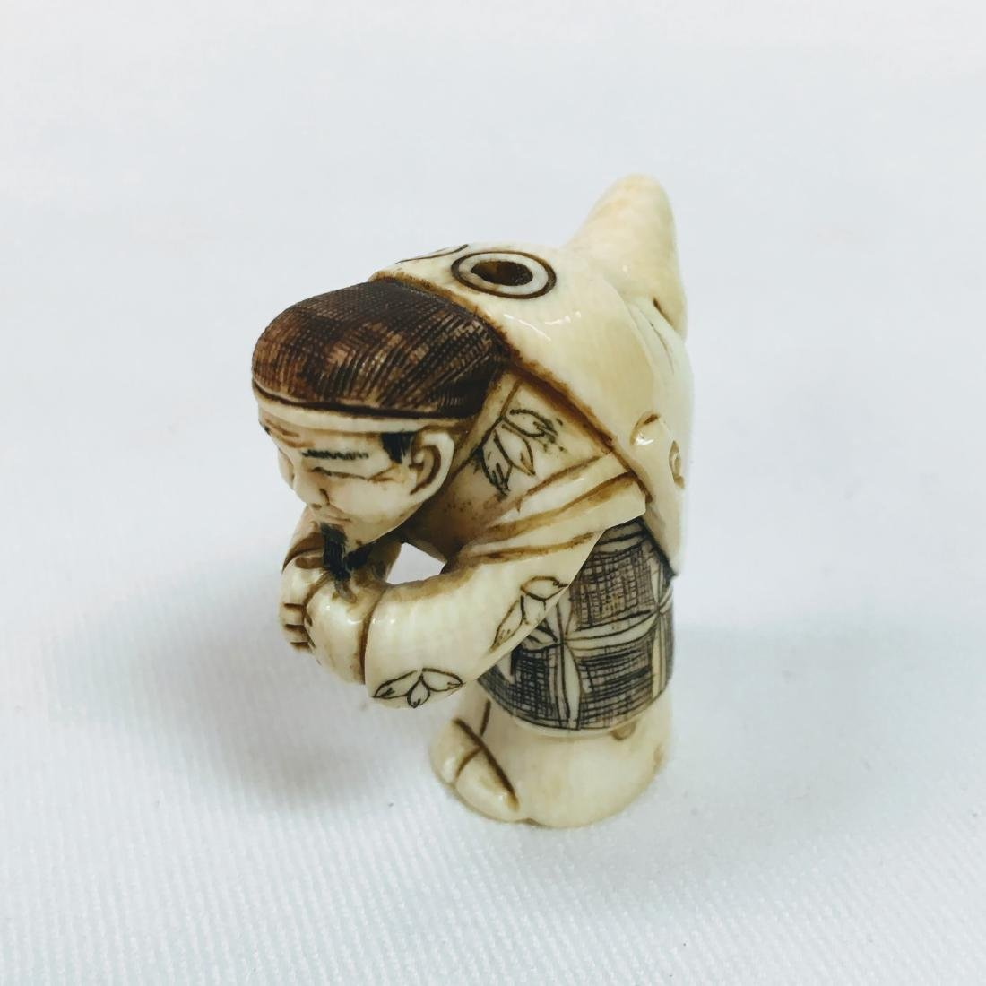 19th century Netsuke double face - 5