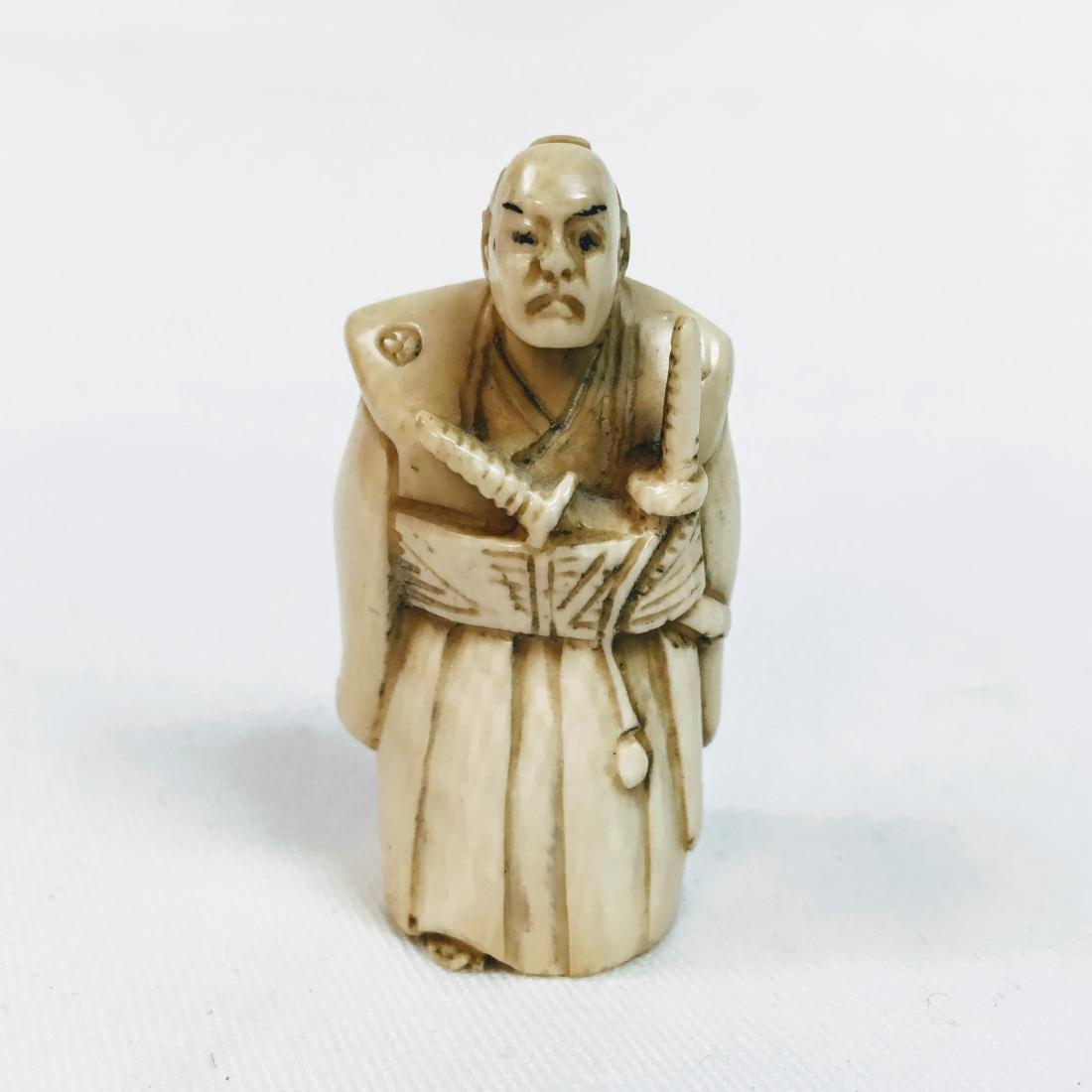 19th Century Netsuke Samurai Warrior, unsigned