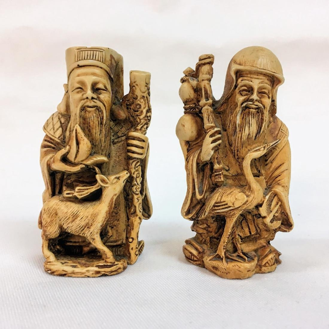 19th Century set of two Chinese figures