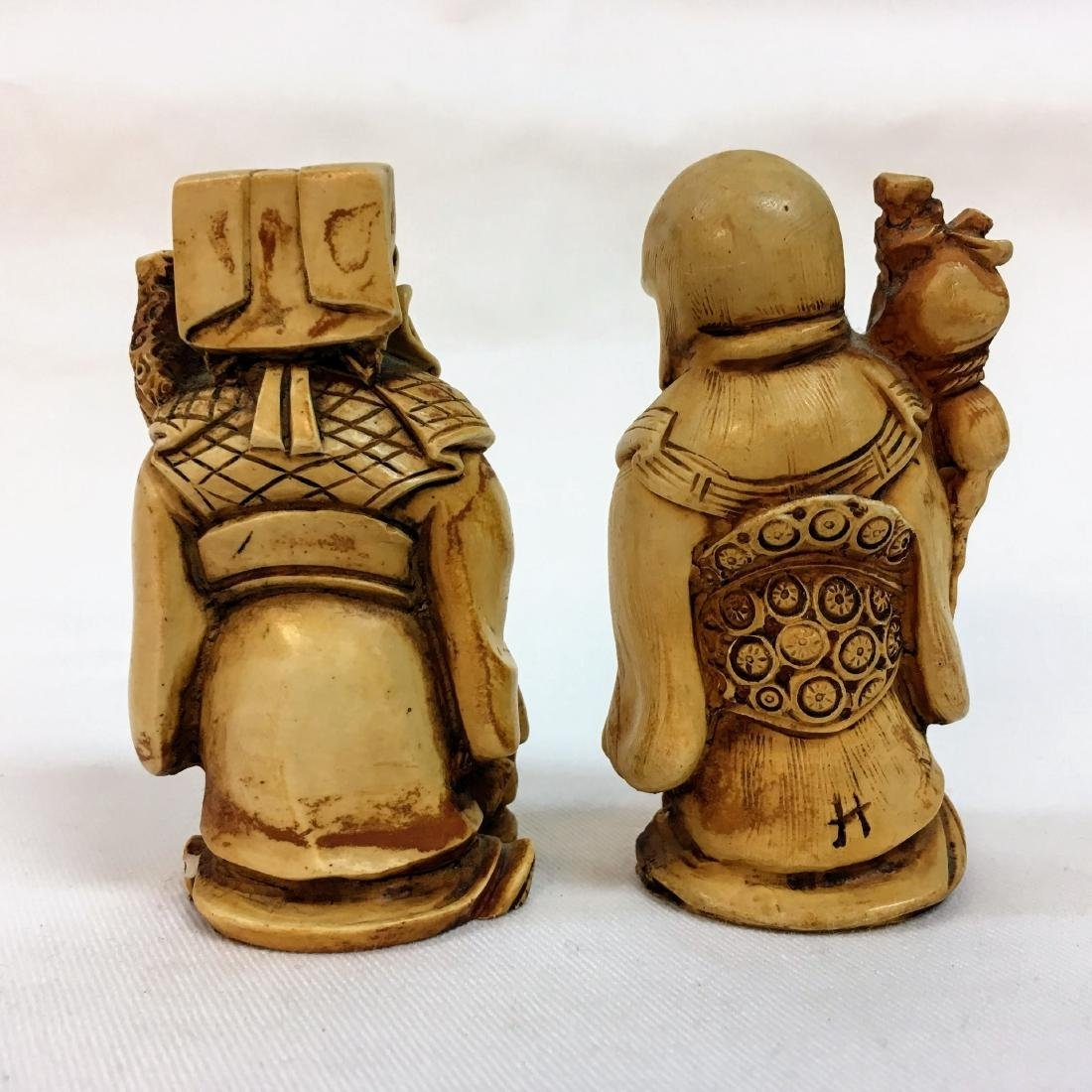 19th Century set of two Chinese figures - 3