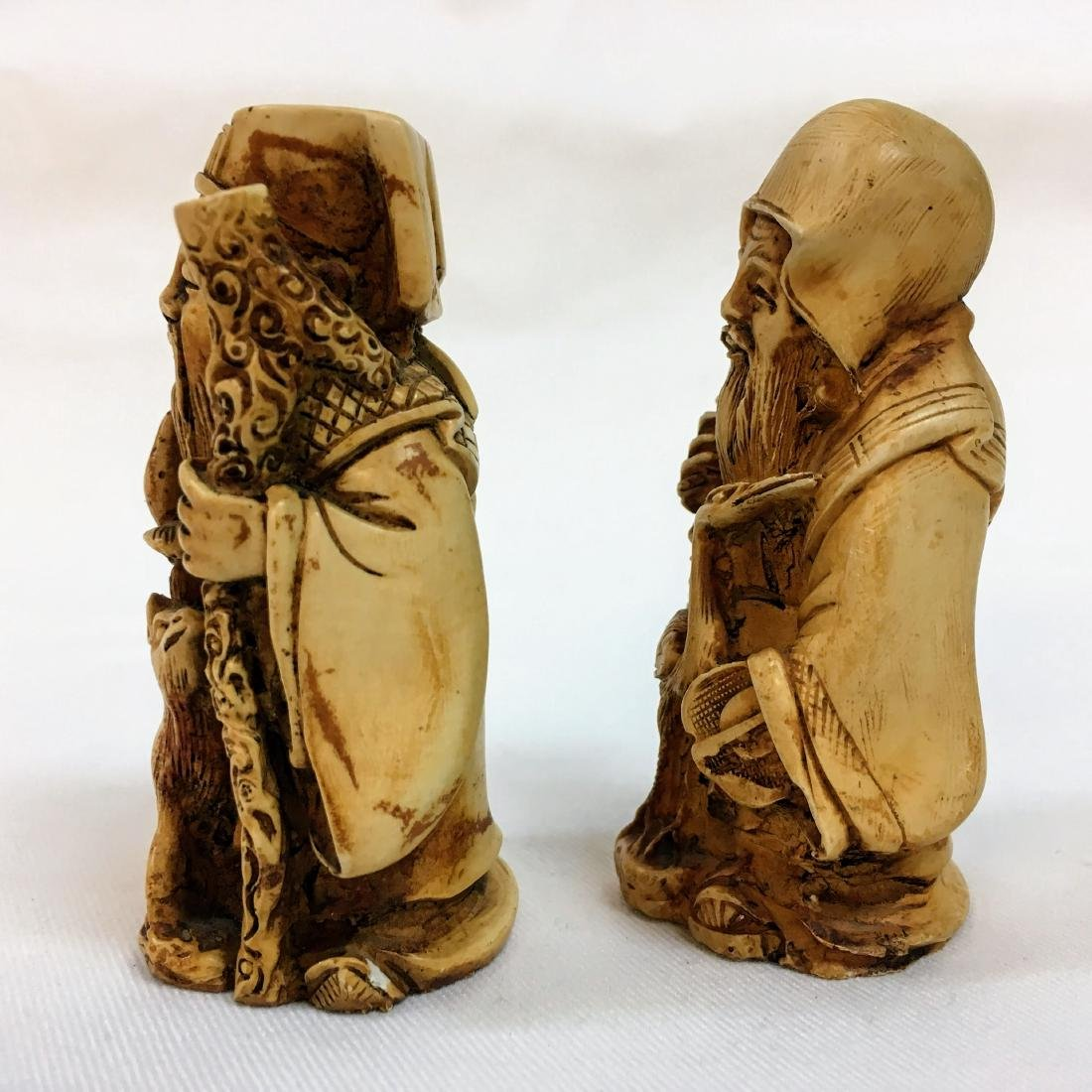 19th Century set of two Chinese figures - 4
