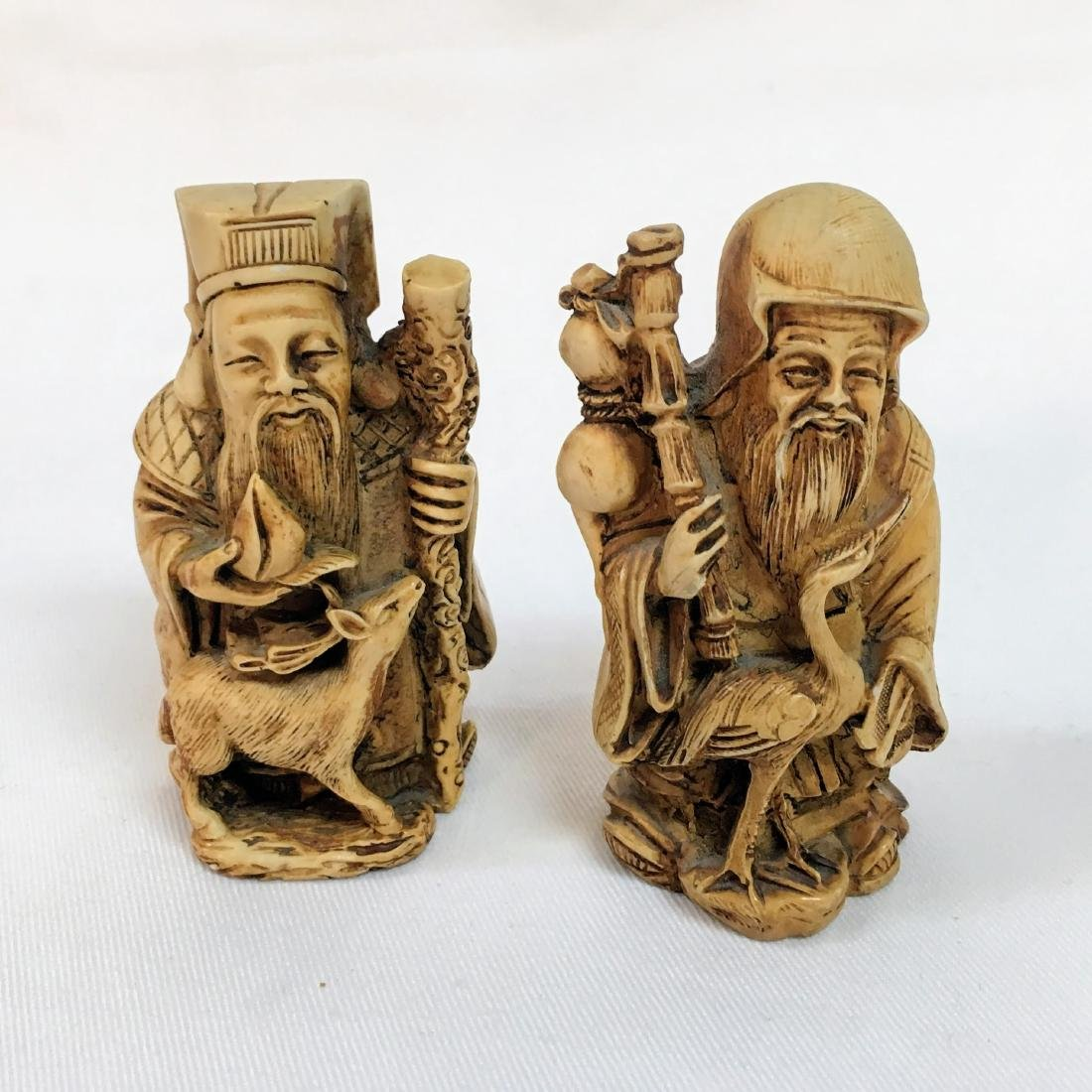 19th Century set of two Chinese figures - 5