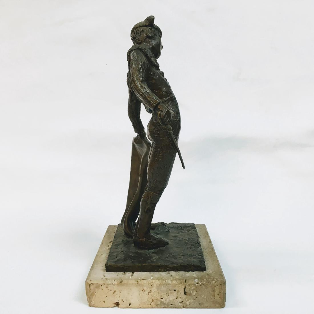 Vintage Bronze Torrero Sculpture on marble base Signed - 2