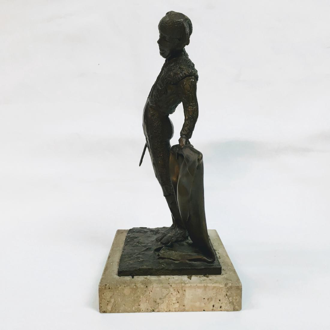 Vintage Bronze Torrero Sculpture on marble base Signed - 4