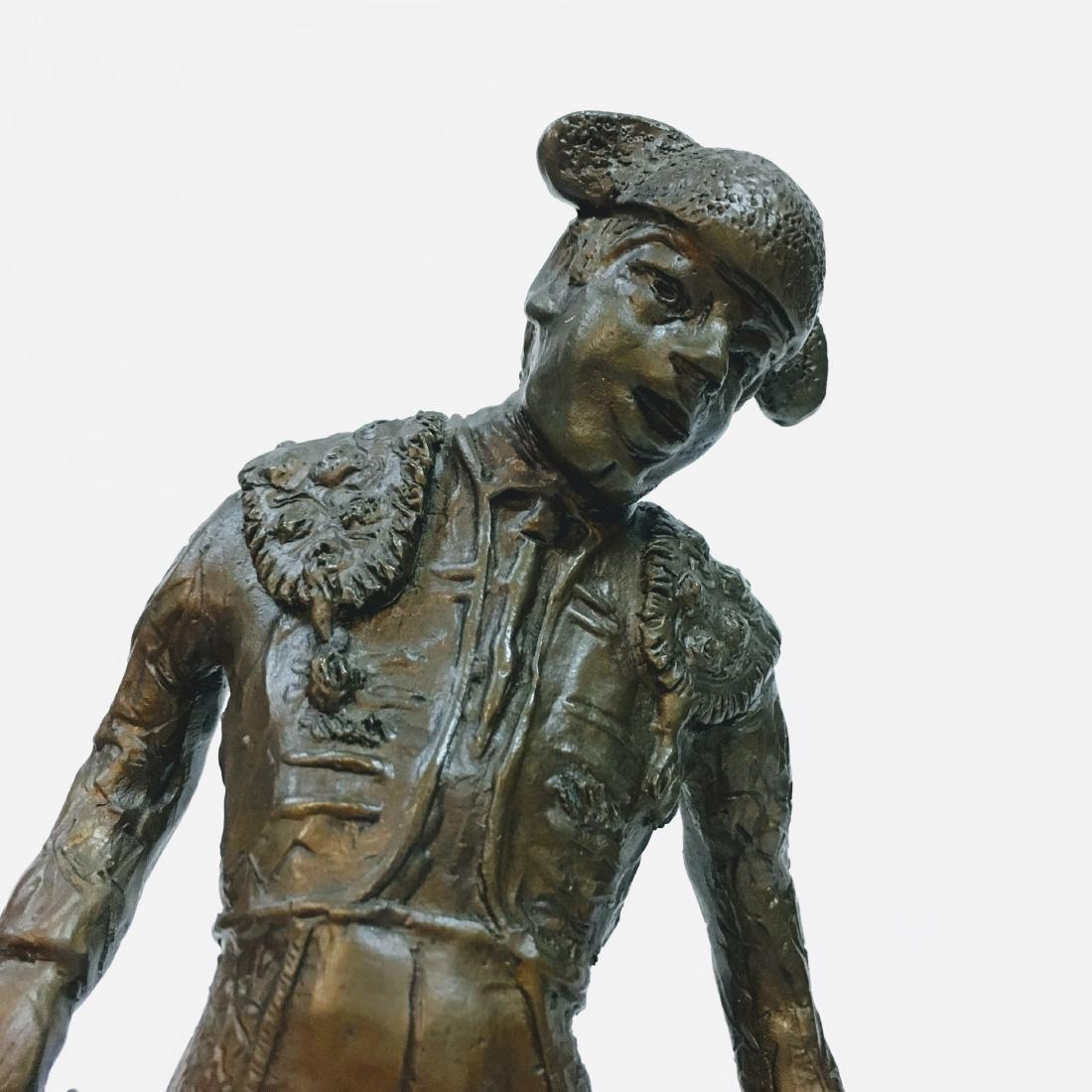 Vintage Bronze Torrero Sculpture on marble base Signed - 5
