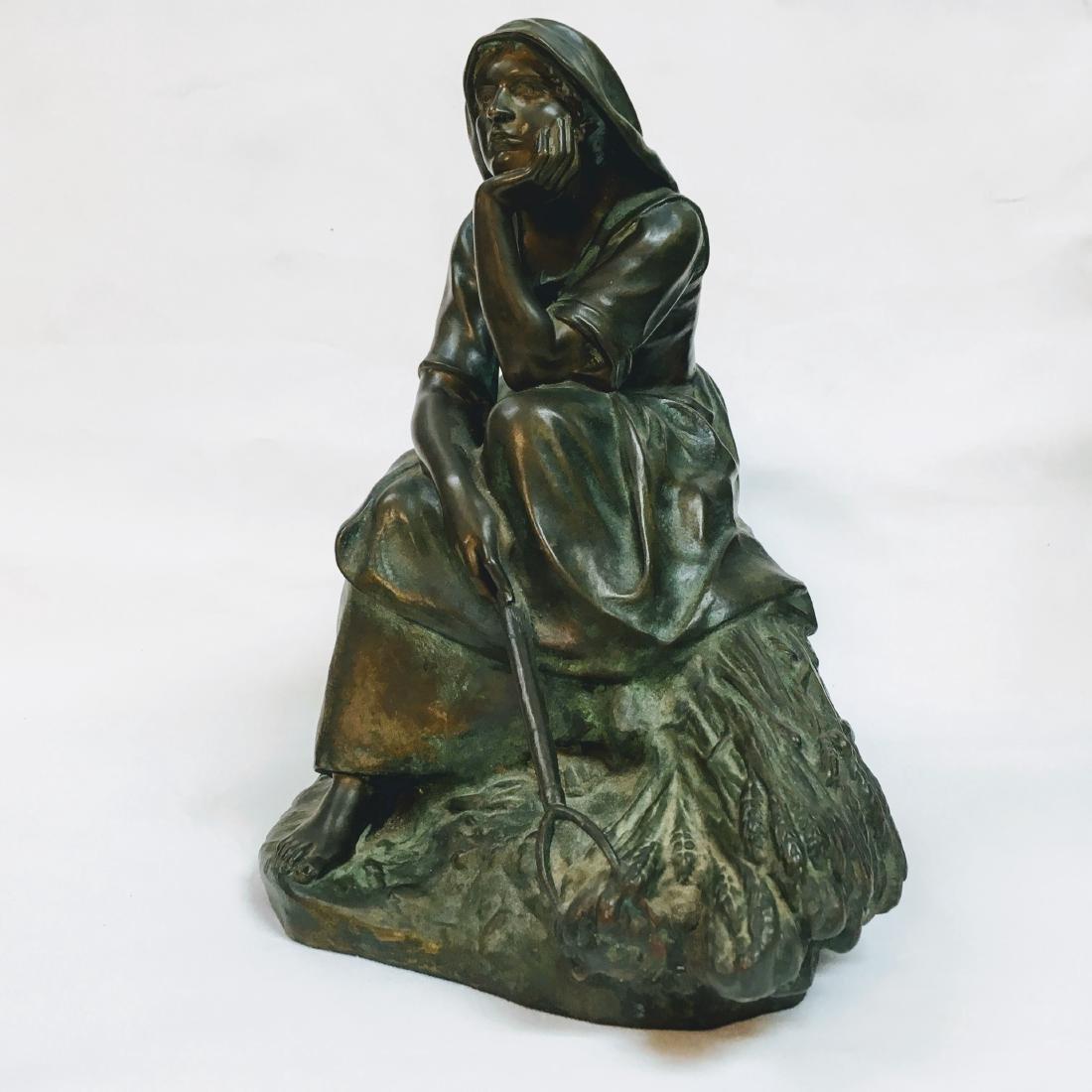 CORNEILLE HENRI THEUNISSEN 1863-1918 REVERIE AU CHAMP - 2