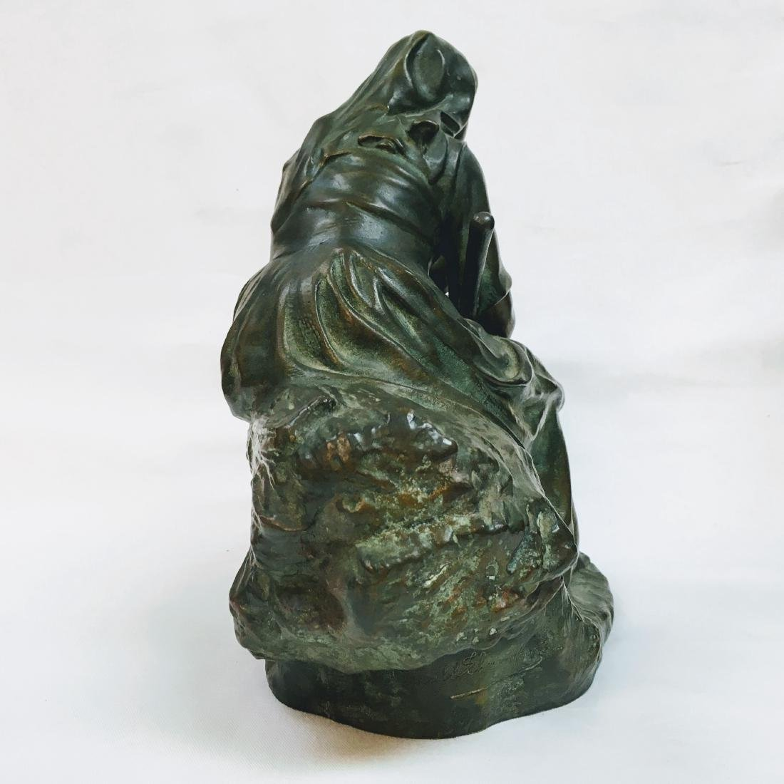 CORNEILLE HENRI THEUNISSEN 1863-1918 REVERIE AU CHAMP - 4