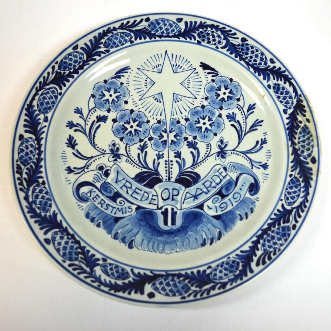 1919 signed marked dutch pottery holland delft