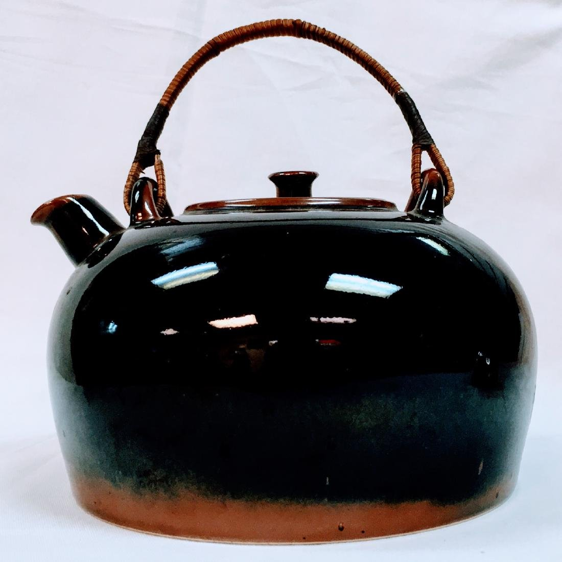 Vintage Japanese ceramic glazed tea pot
