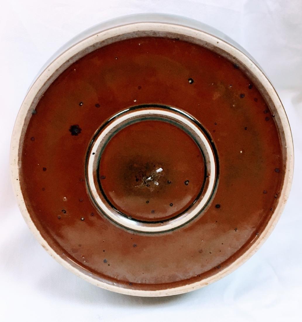 Vintage Japanese ceramic glazed tea pot - 7
