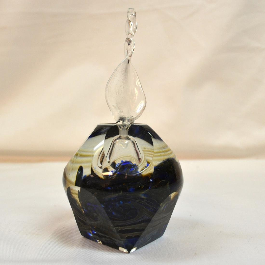 Art Glass Perfume Bottle Signed and dated