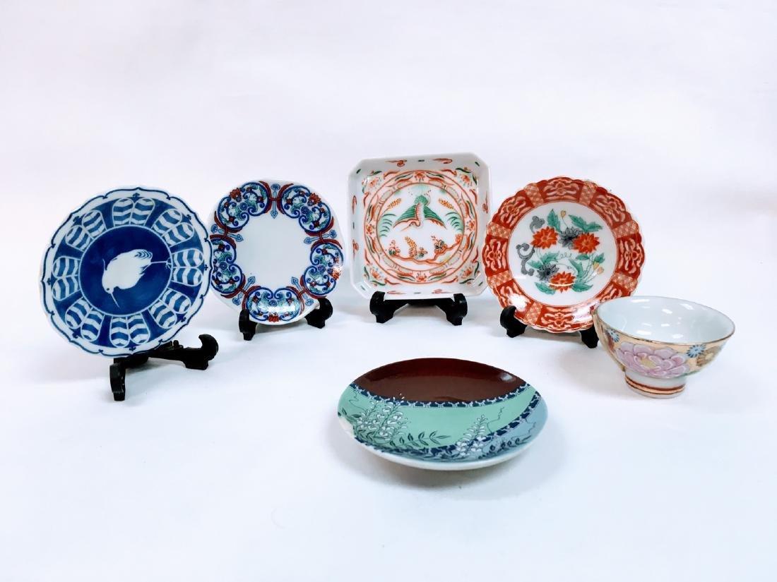 vintage japanese porcelain 6 mini plate