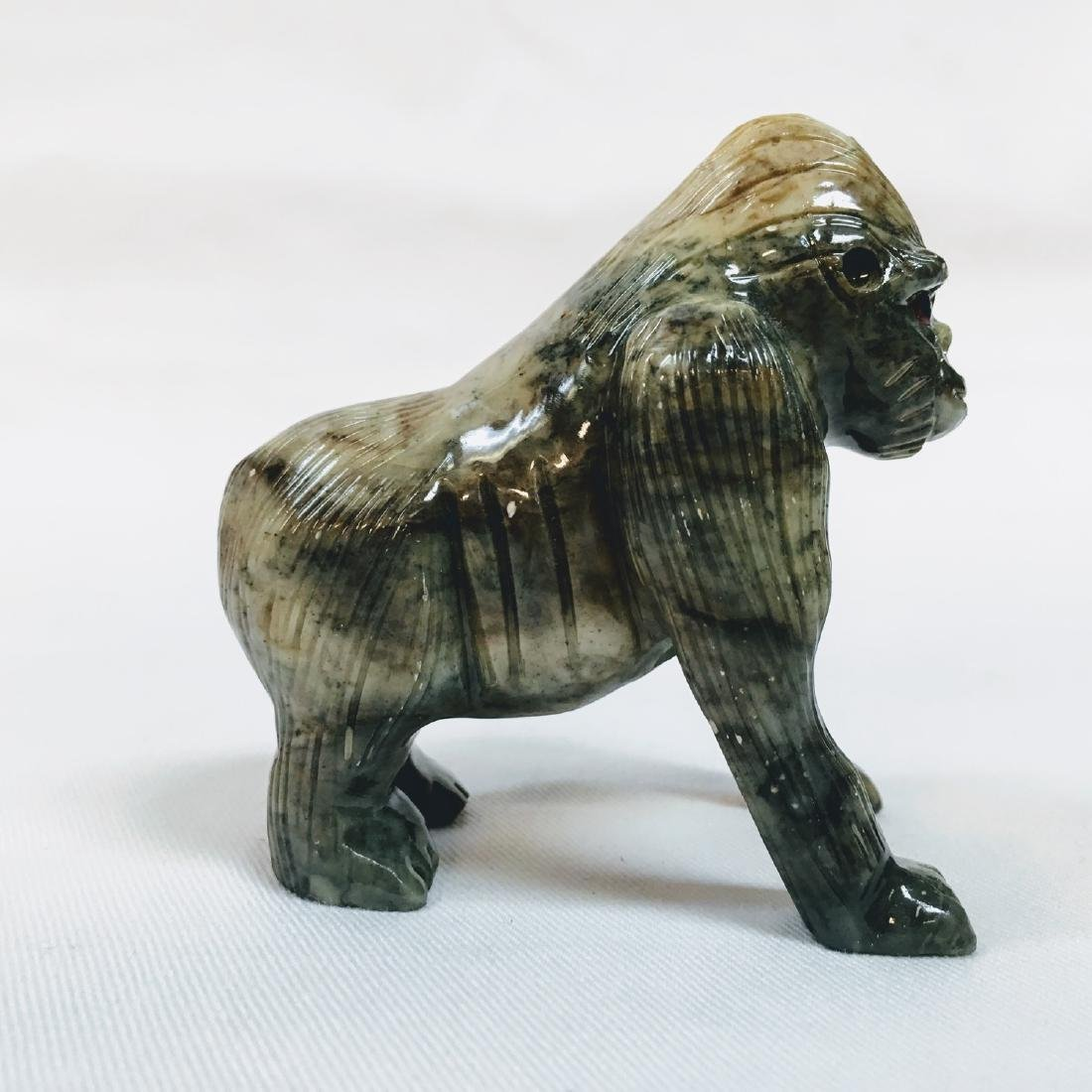 Vintage Hand carved stone Gorilla Monkey Sculpture