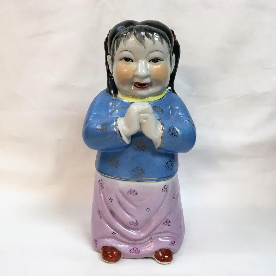 Beautiful Vintage Chinese Porcelain Statue Figure Girl