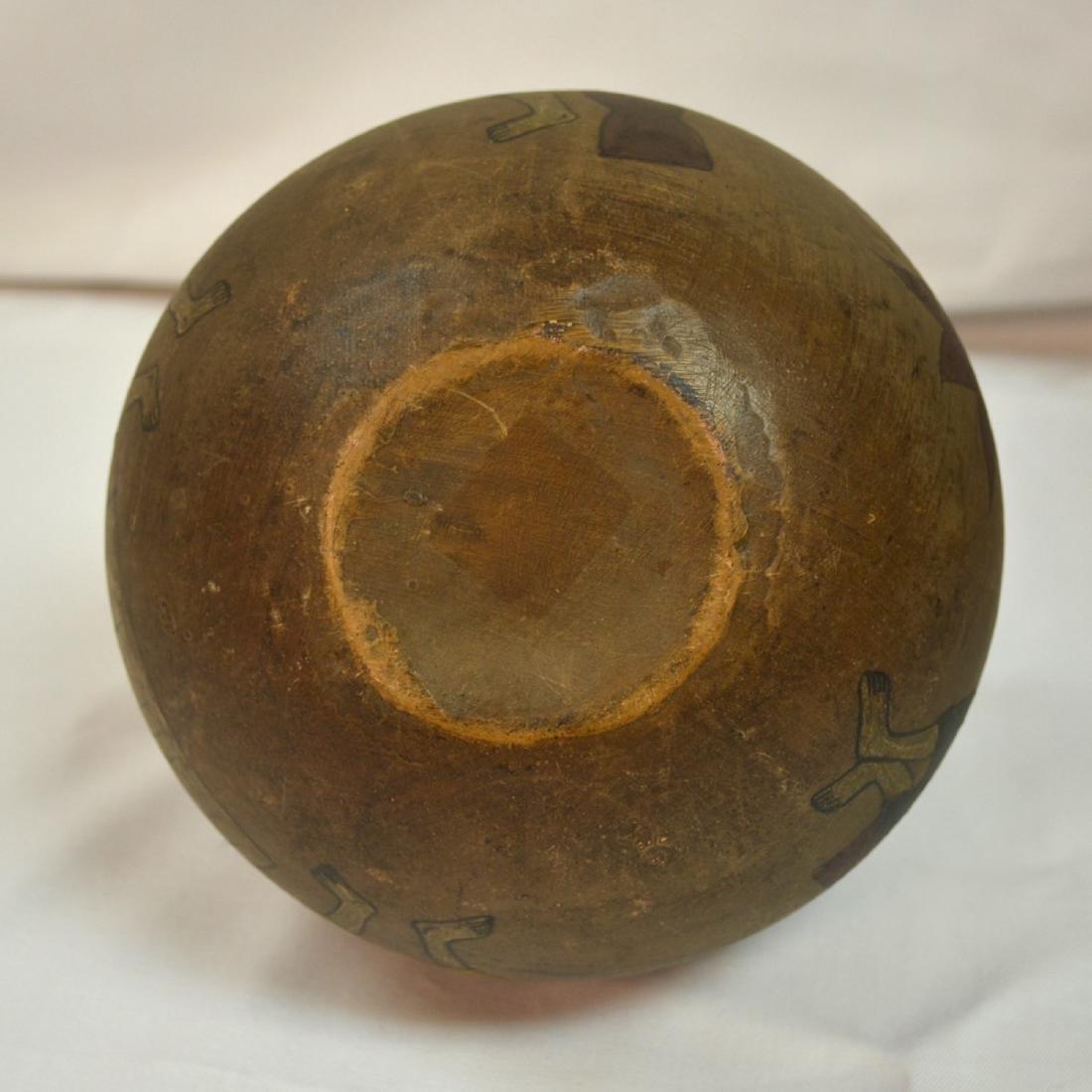 Rare handpainted Ceramic vessel, origin unknown, signed - 6