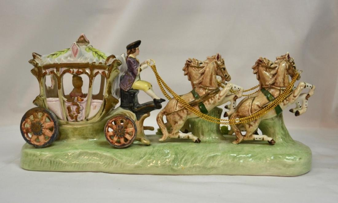 Vintage Capodimonte lace Carriage Porcelain