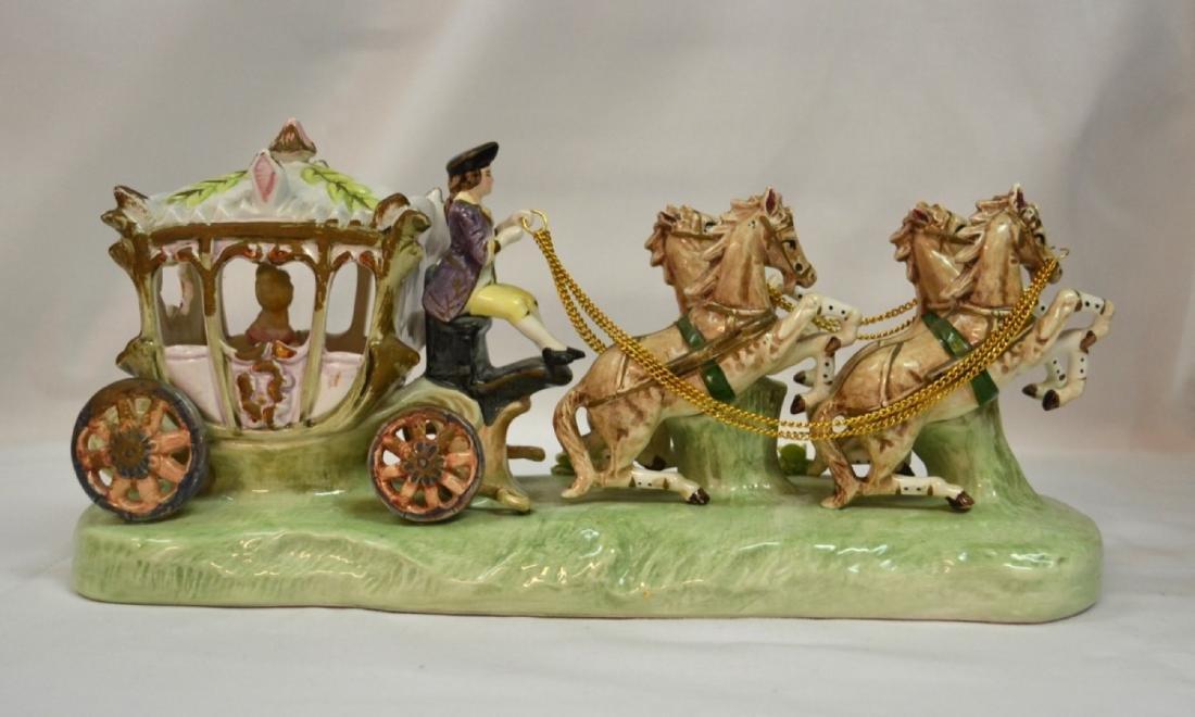 Vintage Capodimonte lace Carriage Porcelain