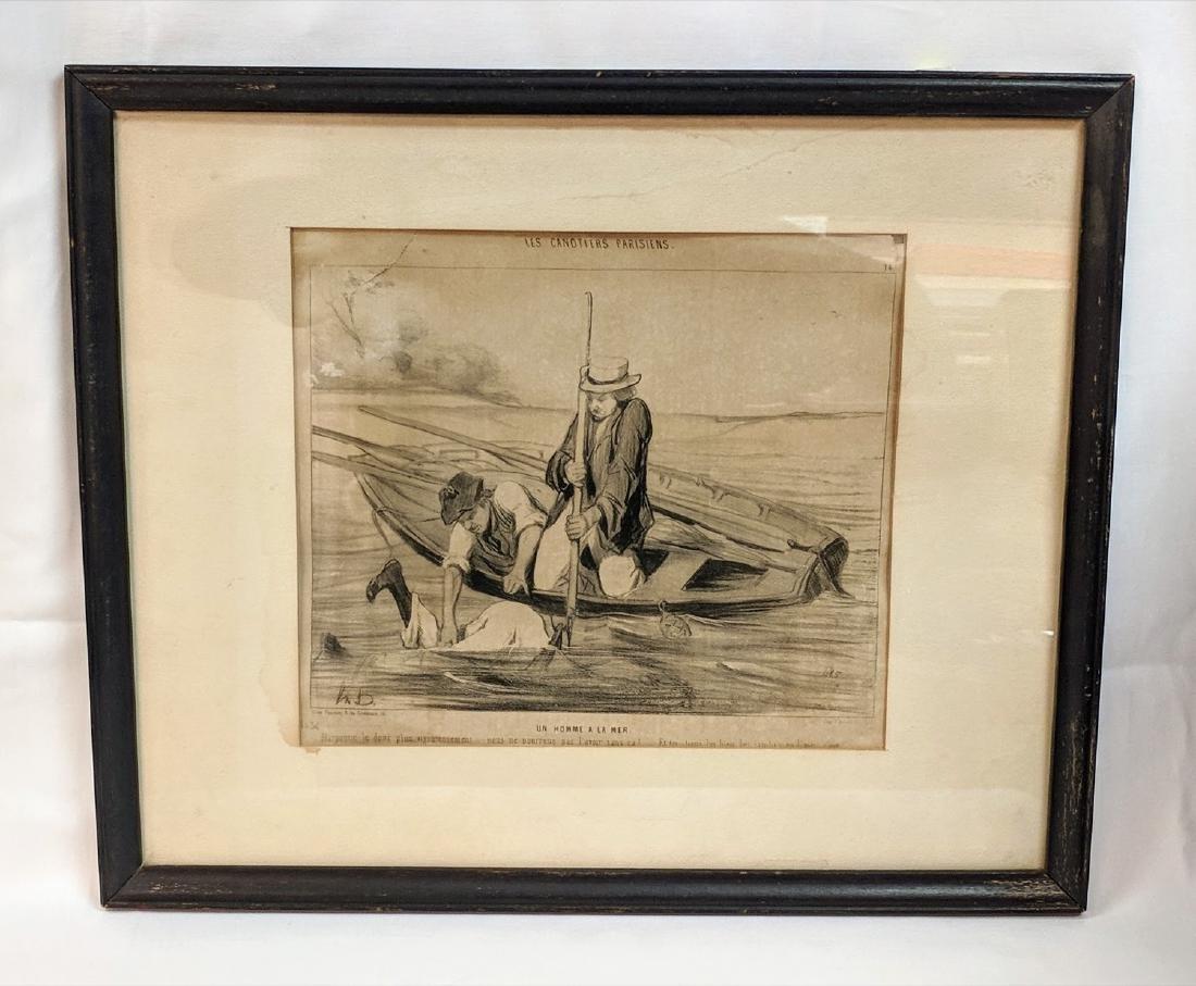Honore Daumier Un Homme a La Mer 1843