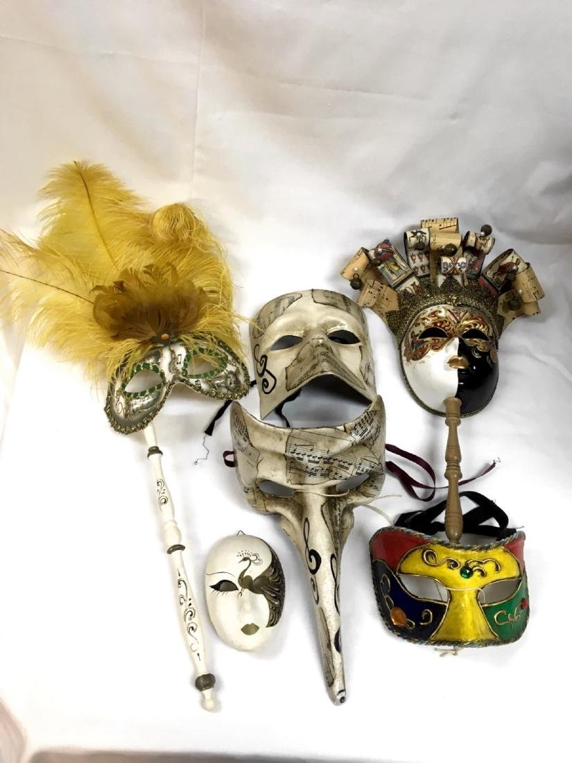 Lot of assorted Venetian Carnevale Masks, Handmade in