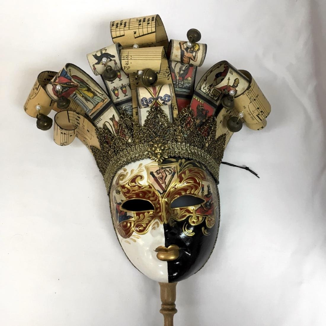 Lot of assorted Venetian Carnevale Masks, Handmade in - 5