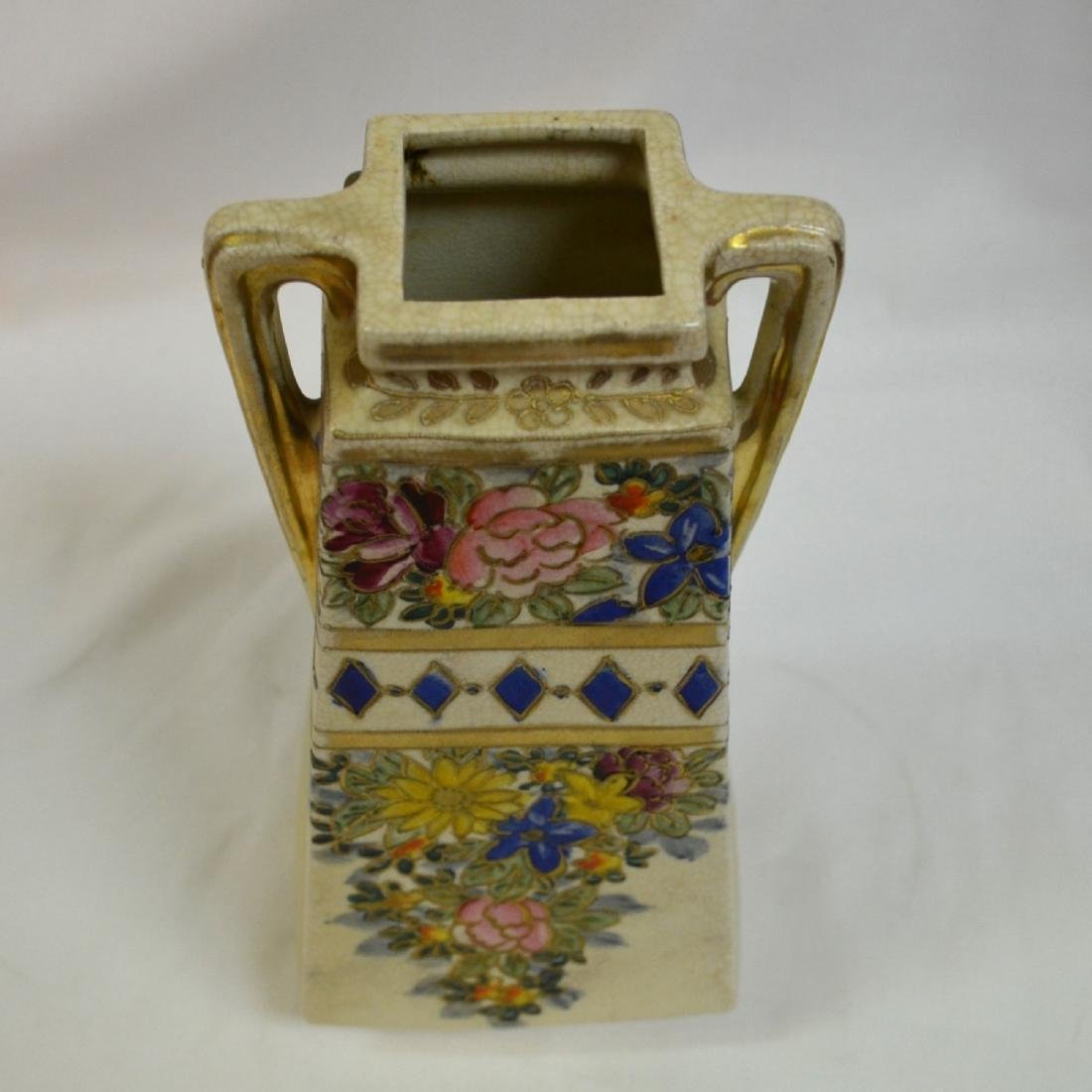 Antique Nippon Hand Painted Vase - 5