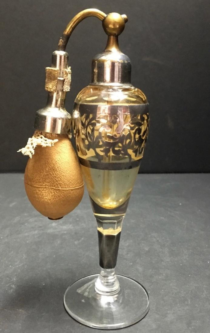 Vintage Crystal silver overlay Art Deco Atomizer - 3