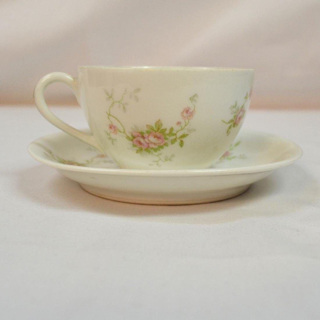 Antique Limoges Teacup and Saucer France - 3