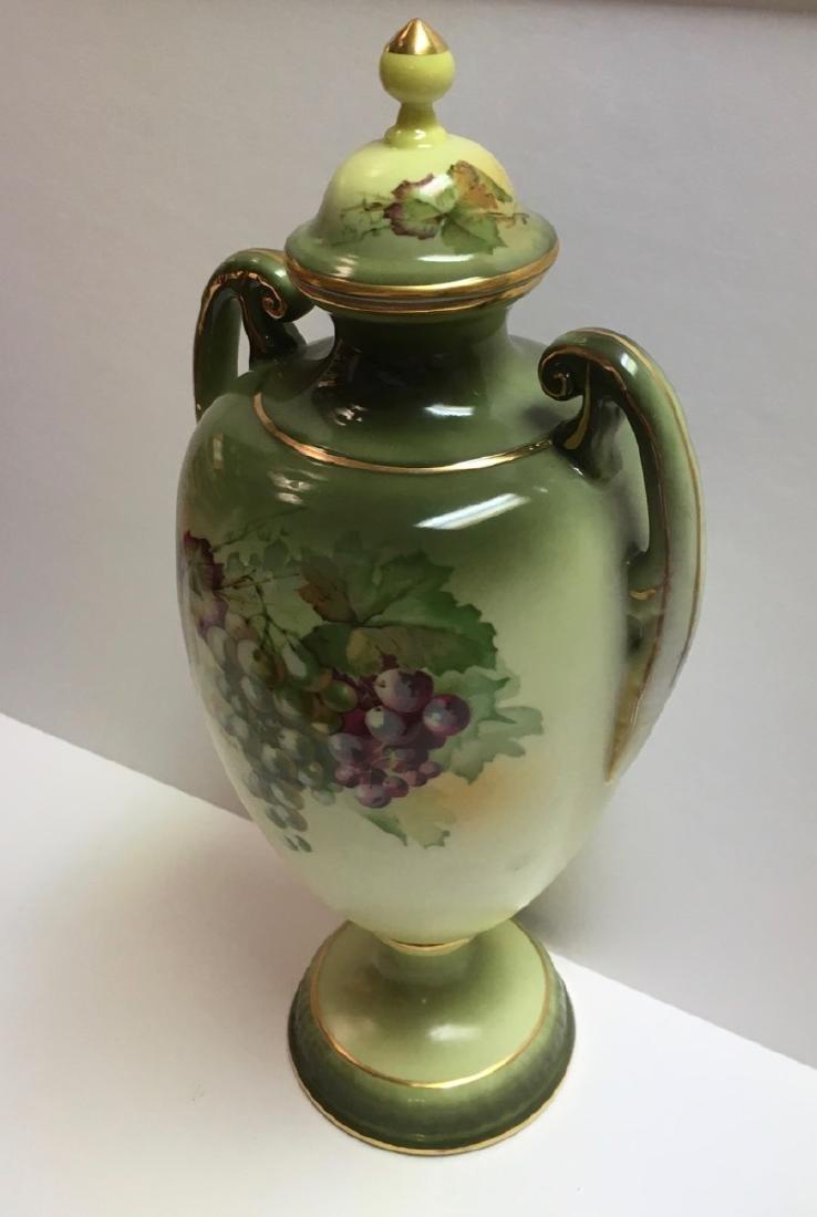 """Vintage Jaeger & Co Porcelain """"Fruit Motif"""" Urn , - 3"""