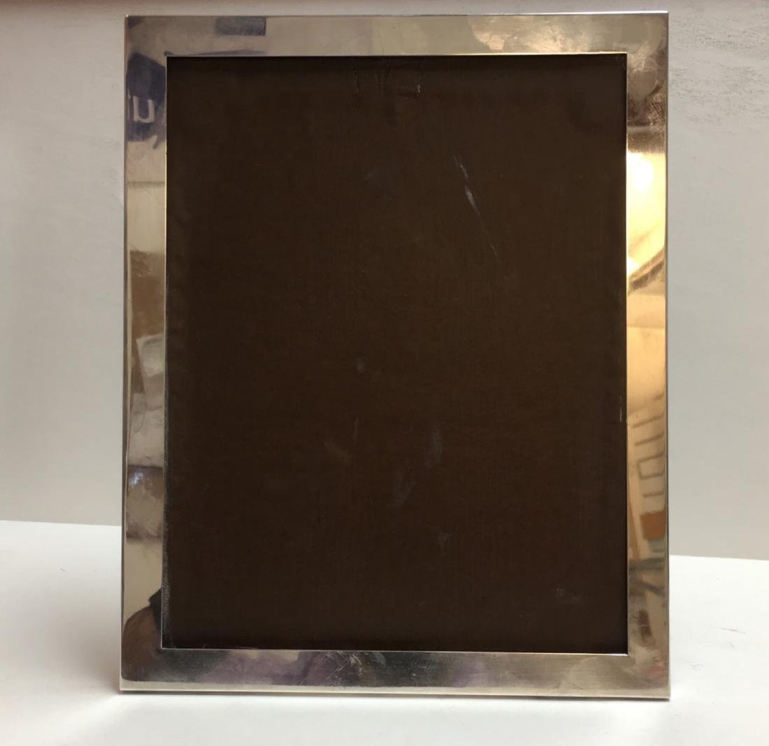 Electro plated silver picture frame, marked ALVIN CORP.