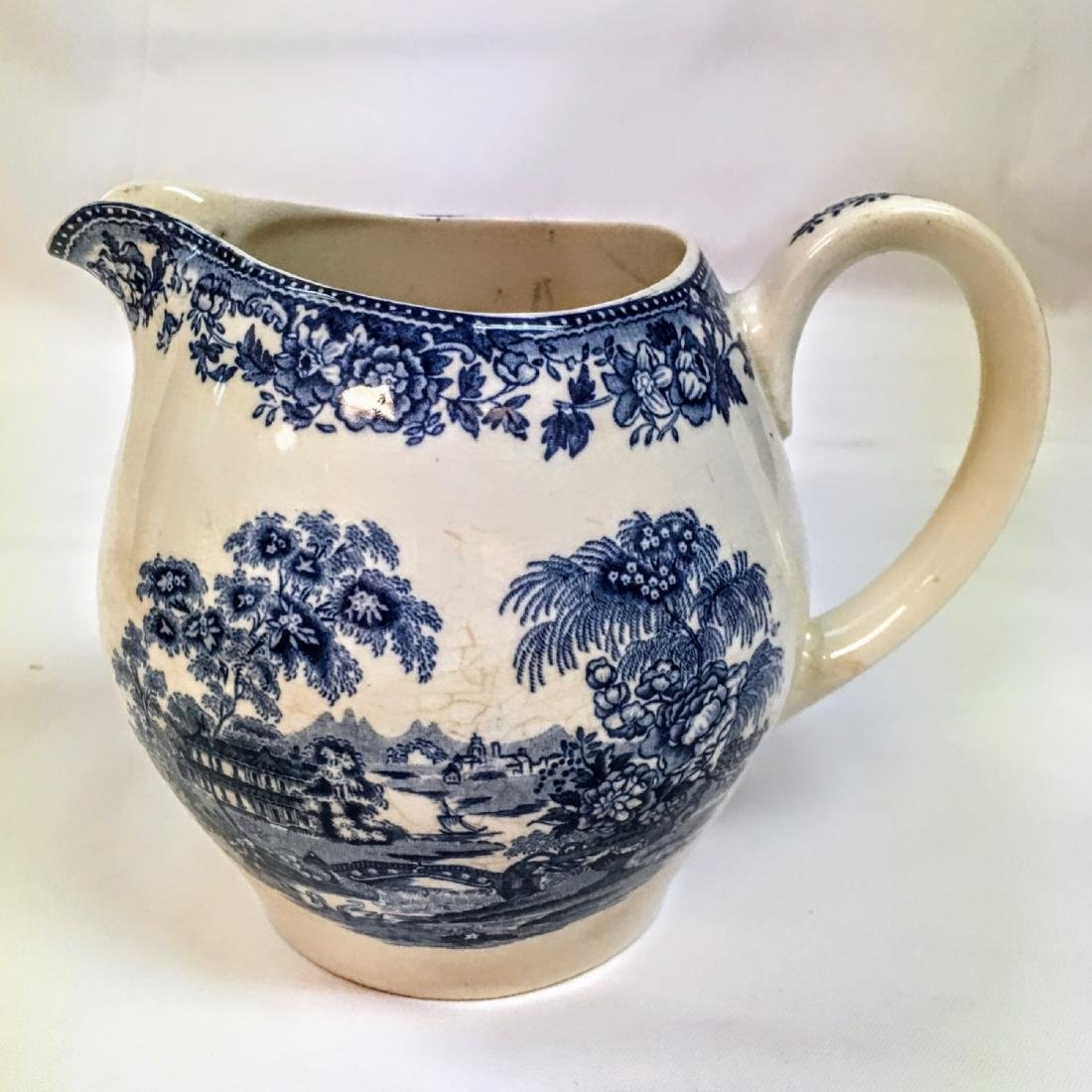 PITCHER A Meakin Blue on White Tonquin Staffordshire