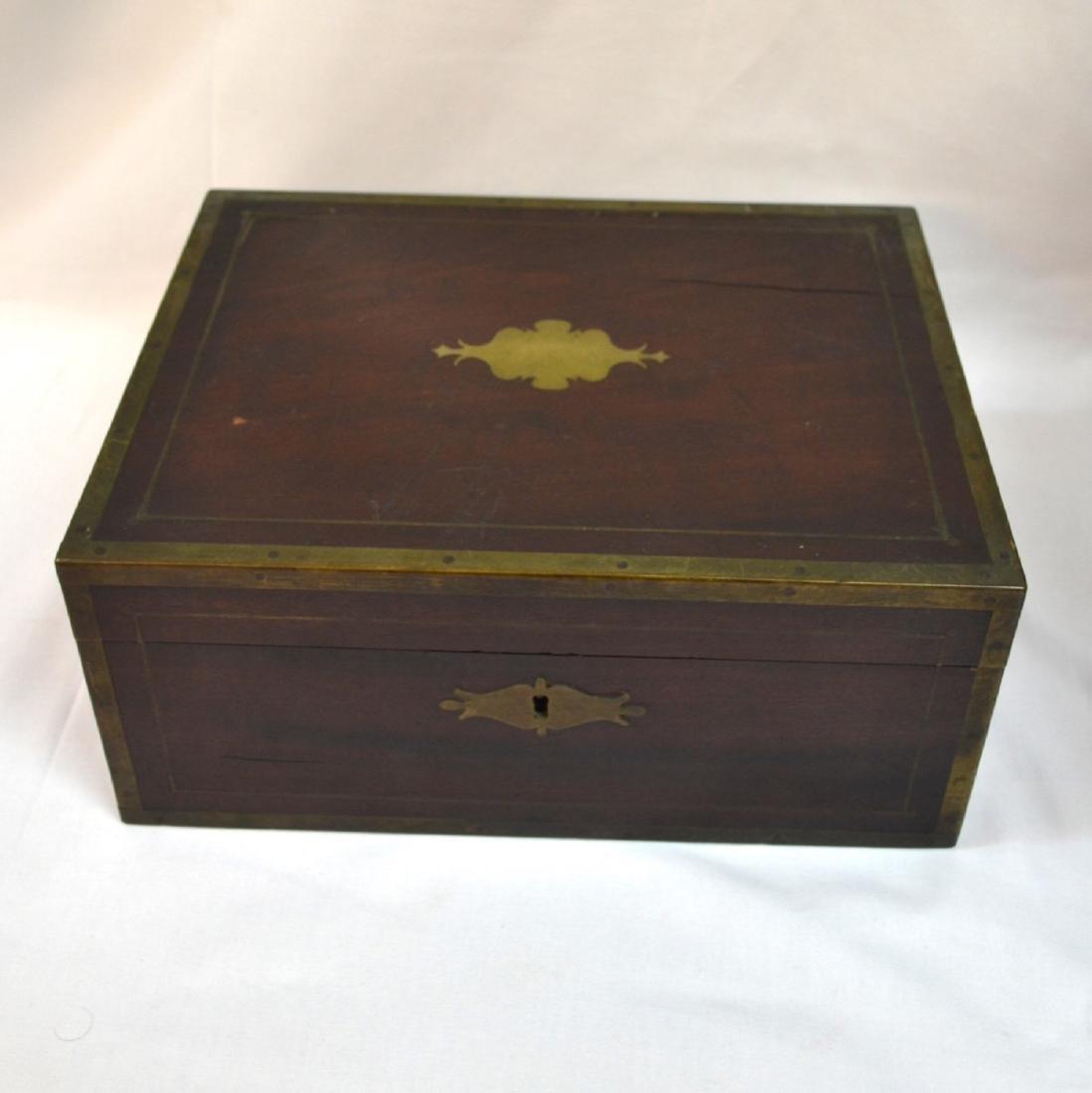 Antique Coromandel Wood Vanity Case, Jewellery Box, - 2