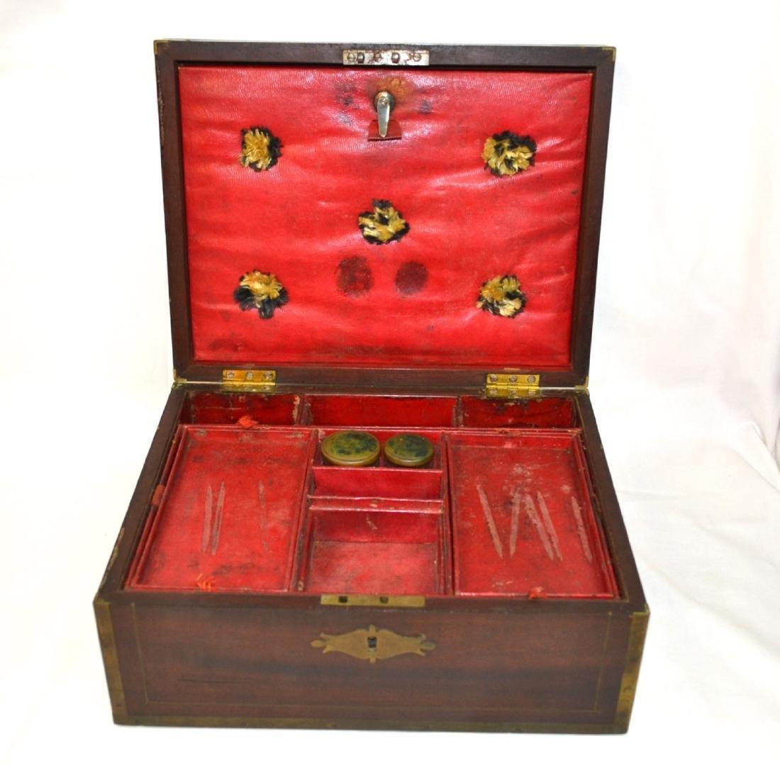 Antique Coromandel Wood Vanity Case, Jewellery Box, - 3