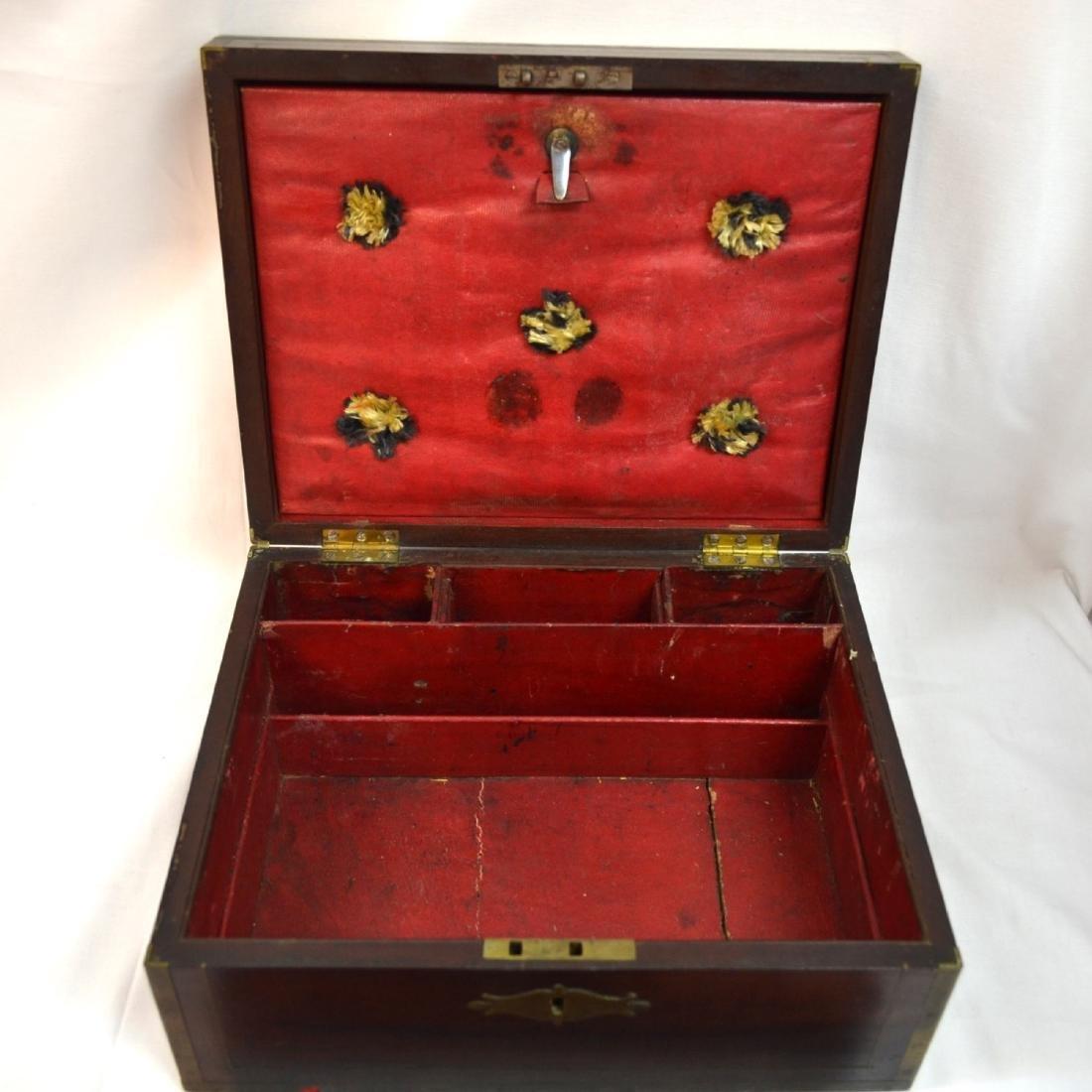 Antique Coromandel Wood Vanity Case, Jewellery Box, - 5