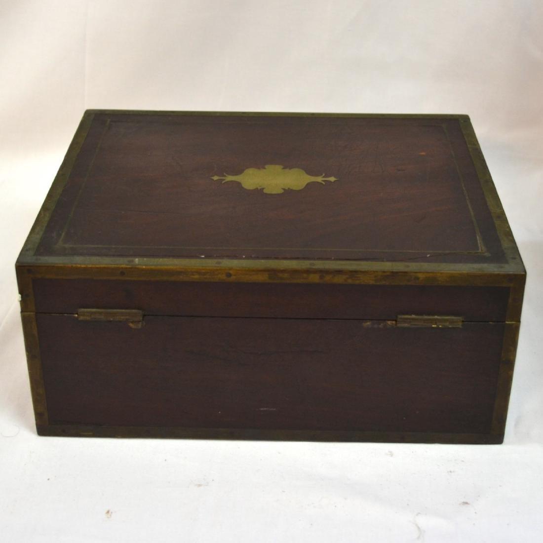 Antique Coromandel Wood Vanity Case, Jewellery Box, - 7